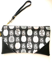 """You Had Me At Aloha"" Faux Leather clutch"