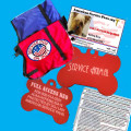 SERVICE DOG ID VISIBILITY IDENTIFICATION PACKAGE #5 INCLUDING DOG VEST WITH PATCH