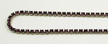12PP (1.9mm) Amethyst rhinestone cup chain, 120 stones per foot