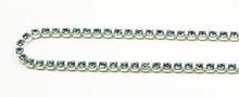 12PP (1.9mm) Aqua rhinestone cup chain, 120 stones per foot