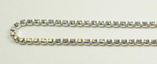 12PP (1.9mm) Crystal AB rhinestone cup chain, 120 stones per foot