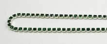 12PP (1.9mm) Emerald rhinestone cup chain, 120 stones per foot