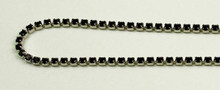 12PP (1.9mm) Jet rhinestone cup chain, 120 stones per foot