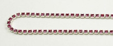 12PP (1.9mm) Rose rhinestone cup chain 120 stones per foot