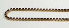12PP (1.9mm) Smoked Topaz rhinestone cup chain, 120 stones per foot