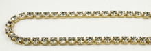 29SS (6.32mm) Crystal rhinestone chain, 37 stones per foot