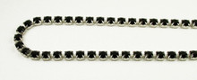 29SS (6.32mm) Jet rhinestone chain, 37 stones per foot