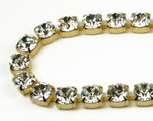 40SS (8.67mm) Crystal rhinestone chain, 30 stones per foot