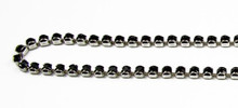 18PP (2.5mm) Jet rhinestone prongless chain , 84 stones per foot