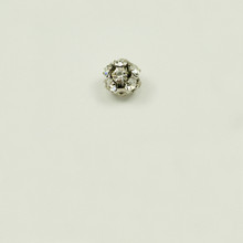 RB8-CR; 8MM diameter ball with twelve 24PP (3.20mm) Crystal rhinestones - 4 pieces per package