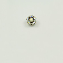 RB8-CRB; 8MM diameter ball with twelve 24PP (3.20mm) Crystal AB rhinestones - 4 pieces per package