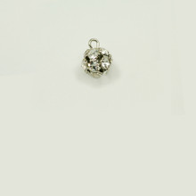 RB8/L-CR; 8MM diameter ball, 1 loop, with twelve 24PP (3.20mm) Crystal rhinestones - 4 pieces per package
