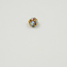 RB18-CRB; 4.6mm diameter ball with six 18pp (2.5mm) Crystal AB rhinestones - 4 pieces per package