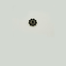 MR233-JE; 11MM diameter round setting with nine 18PP Jet border rhinestones and one 19SS center stone - 4 pieces per package