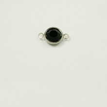 CR39/2R-JE; 2 ring, chanel setting with 39ss (8.41mm) Jet chanel rhinestone - 12 pieces per package