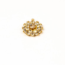 BC808/R-CR; Multiple round, 19 stones, approximately 15.0mm, 1 ring, Crystal - 4 pieces per package