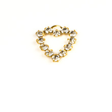 MH620/R-CR; Heart finding, 12 - 24pp (3.20mm) stones, approx. 20.0mm, 1 ring, Crystal - 4 pieces per package
