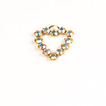 MH620/R-CRB; Heart finding, 12 - 24pp (3.20) stones, approx. 20.0mm, 1 ring, Crystal AB - 4 pieces per package