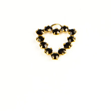 MH620/R-JE; Heart finding, 12 - 24pp (3.20) stones, approx. 20.0mm, 1 ring, Jet - 4 pieces per package