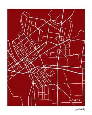 Monroe Louisiana city map