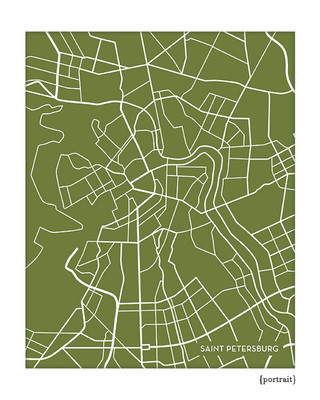 Saint Petersburg Russia city map