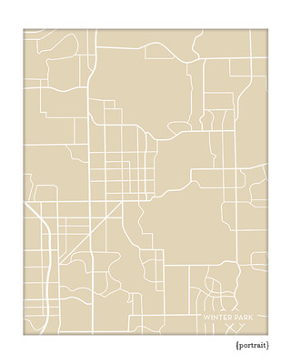 Winter Park Florida city map