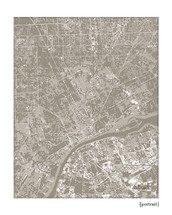 Detroit Michigan Cityscape Print