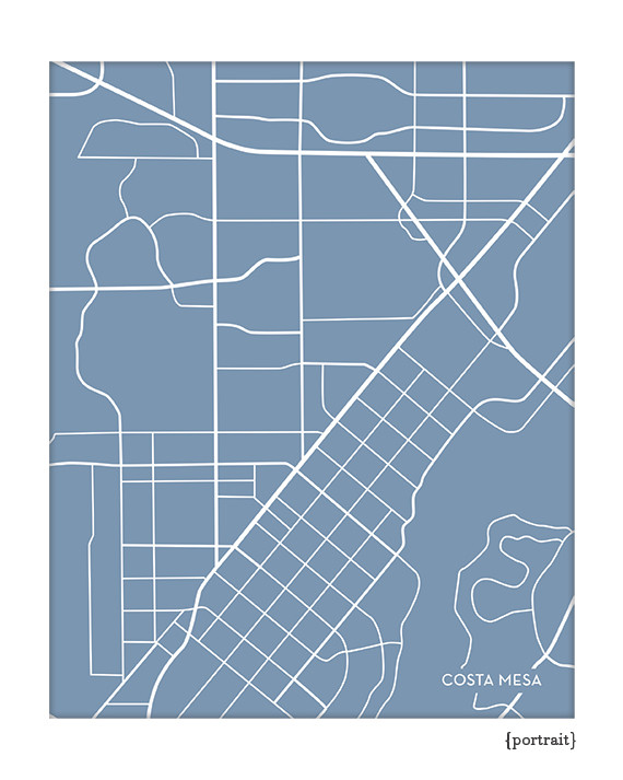 Costa Mesa California City Map
