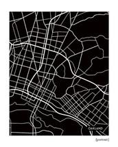 Oakland California city map