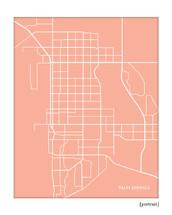 Palm Springs CA city map
