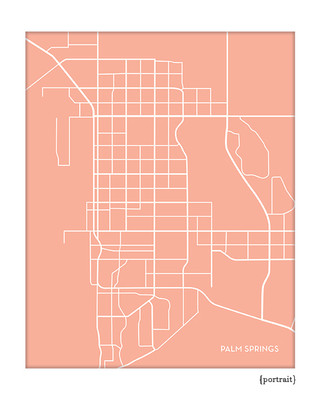 Palm Springs CA city map