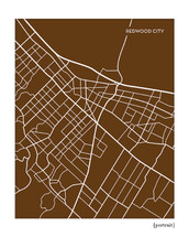 Redwood City California Map