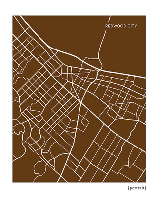 Redwood City California Map