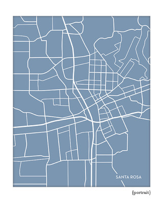 Santa Rosa California City Map