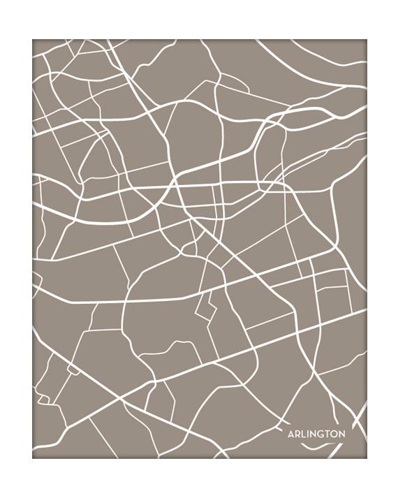 Arlington Virginia City Map
