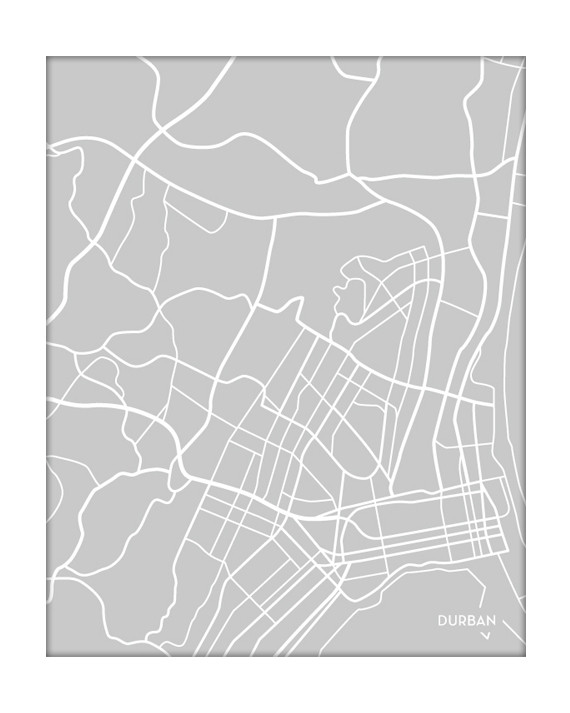 Durban South Africa City Map