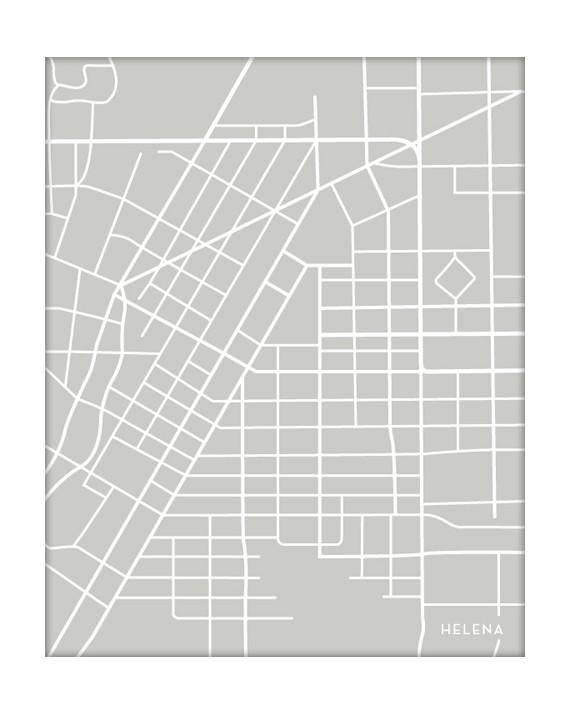 helena montana city map