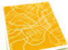 Knoxville Tennessee City Map (in tangerine)
