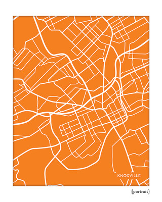 Knoxville Tennessee City Map