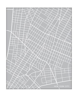 Downtown New York City Map - Portrait