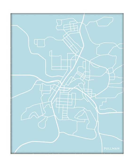 Pullman Washington City Map