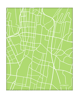 Sydney, Australia city map {portrait}