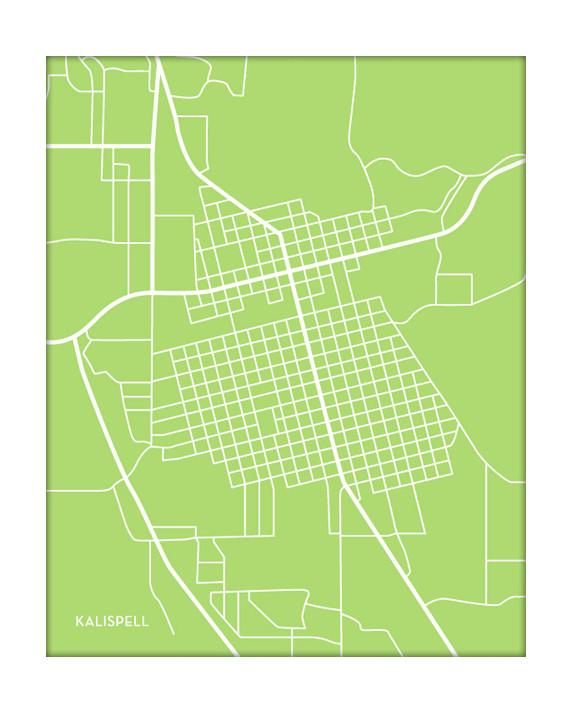Kalispell Montana City Map