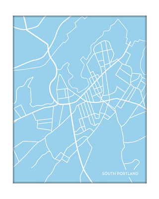 South Portland Maine City Map