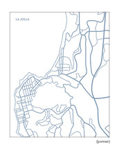 La Jolla city map print