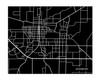 Jonesboro Arkansas City Map in Landscape