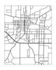 Jonesboro Arkansas City Map in Portrait