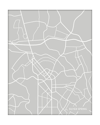 Silver Spring MD city map / Portrait
