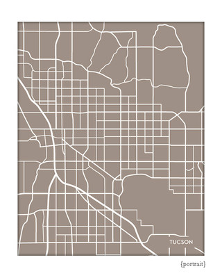 tucson arizona city map