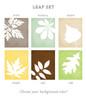 Leaf set art prints